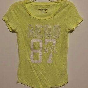 Glittery Yellow Aero T Shirt